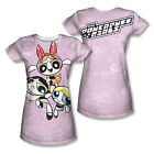 Powerpuff Girls Dog Pile - Juniors T-Shirt - Sublimation Polyester (Front / Bac