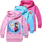 Pretty Frozen Elsa and Anna Princess Kids Girls Gift Hoodie Coat Clothing 2-8Yrs