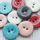 E653 New Enamel Coco Two Holes Sewing Buttons Button Overcoat Decoration