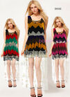 NEW Sz Womens Summer Tulip Chiffon Cocktail Evening Long Multi-colour Dress