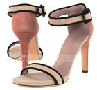 GUCCI SHOES DARK ROSE SUEDE STRAPPY DEMPSEY SANDALS HIGH HEEL ANKLE CLOSURE