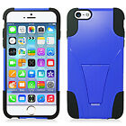 For Apple iPhone 6 6S Plus Advanced Layer HYBRID KICKSTAND Rubber Case Cover