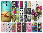 For HTC One M8 Rubberized HARD Protector Case Snap On Phone Cover Accessory