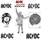 ACDC Iron on T Shirt Transfer Free Post or Fast Post Many Designs 1D1 A6 A5 A4