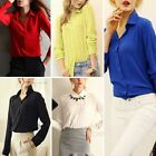 Casual New Womens Lady Fashion Long Sleeve Chiffon OL Office T Shirt Blouse Tops