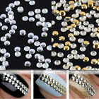 200pcs Round 3D Design Nail Art Tip Metallic Phone Decoration Stickers Studs Hot