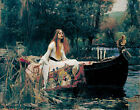 The Lady of Shalott John William Waterhouse Painting Repro Canvas Fine Art Print
