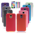 New Silicone Card Holder Hybrid Rubber Stand Case Cover For Samsung Galaxy S5