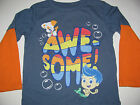 New Bubble Guppies Toddler Boys 2T 3T 4T 5T long Sleeve shirt Tee Top