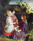 "Poster / Leinwandbild ""Three Young Girls in a Landscape, c...."" - English School"