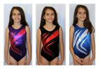 All Sizes *Swoosh* Girls Gymnastics Leotard with Diamante 26,28,30,32,34,36,38