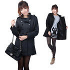 Lady Double-Breasted Windbreaker Jacket for Women Slim Winter Warm Lady Coat