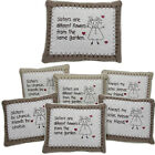 SISTER CUSHIONS PILLOW SOFT CUDDLY MESSAGE GIFT SENTIMENTAL HOME DECORATION NEW