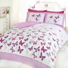 BUTTERFLY FLUTTER DUVET COVERS GIRLS BEDROOM BEDDING VARIOUS SIZES