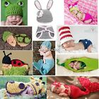 Animal Outfits Crochet Newborn Photography Knitted Beanie Handmade Fashion N4U8