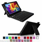 "Bluetooth Keyboard with Leather Case Cover For Samsung Galaxy Tab 4 7.0 7"" inch"