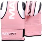 MAXSTRENGTH Bag Mitts Boxing Gloves Grappling Punch Bag MMA Thai Kick Ufc Pink