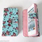 FLIP WALLET LEATHER CASE COVER FOR APPLE iPHONE 4 4S 5 5S 5C 6 - <br/> iphone 4 / 4s ,5 / 5s / SE, 6 / 6s (4.7&quot;) in stock