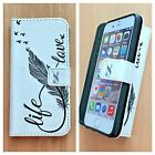 FLIP WALLET LEATHER CASE COVER NEW FOR APPLE iPHONE 4 4s 5 5s SE 6 6s 7  <br/> Fast &amp; Free First Class Post * UK Seller * Brand New *