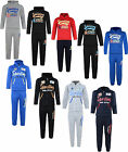 KIDS TRACKSUIT BOYS JOG SET SPORTING ATHLETIC HOODED TOP & JOGGERS BNWT
