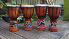 DJEMBE DRUMS.40Cm & 30Cm  HAND MADE AND HAND PAINTED IN BALI.  ''FREE POSTAGE''