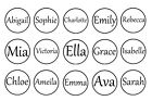 "✿ 15 or 30 x CUSTOMISED NAME 1"" ROUND PRE CUT BOTTLE CAP QUALITY IMAGES 4 BOWS ✿"
