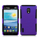 LG Optimus F7 US780MESH Hybrid Silicone Rubber Skin Protector Case +Screen Guard
