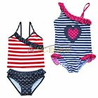 Girls Kids Swimwear Swimsuit Bathers Swimmers Bathing Suit Beachwear Size 2-8