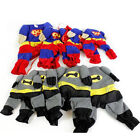 SUPERMAN BATMAN DOG JACKET PET STYLE COAT CLOTHES WARM COSY VELCRO COSTUME PUPPY