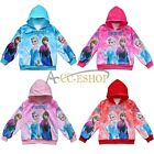 Girls Kids Frozen Elsa Anna Hoodies Tops Shirts Outwear Jacket Coat Sweatshirt