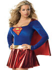 Sexy Super girl Superhero Caped Fancy Dress Party Womens Halloween Costume XS-L