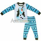 Frozen Olaf 2pcs Kids Boys Girls Pajamas Set Sleepwear Top Pants Outfit Homewear