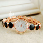 SALE Round pieces links mixed golden color band quartz cute women's watch black