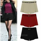 New Hot Fashion Women's Waist Shorts Autumn Winter Shorts Wool Short Pants S-XXL