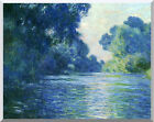 Stretched Canvas Art Claude Monet Branch of the Seine Near Giverny Repro Print