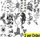 Waterpoof Temporary Fake Tattoo faux tatouage-Animal-Insect-Reptile - Choice