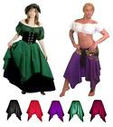 RENAISSANCE COSTUME DRESS-UP PIRATE WENCH FAIRY BELLY DANCE HANDKERCHIEF SKIRT