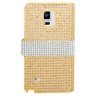 For Samsung Galaxy Note 4 Bling Diamond Wallet Case Flip Pouch Phone Cover