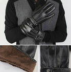 M L XL Mens Faux Leather Winter Bussell Windproof Warm Cashmere Lining Gloves