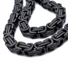 """Stainless Steel Black Cool Mens Necklace 22.9"""" (5mm,8mm,10mm)N140"""