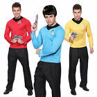 Mens Red Blue Star Trek Uniform Costume Captain Scotty Kirk Spock Fancy Dress on eBay