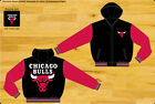 Chicago Bulls NBA Kids Jacket 2-Tone Black Red Nylon Fleece Sweatshirt Hood