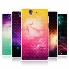 HEAD CASE PRINTED STUDDED OMBRE GEL SKIN BACK CASE COVER FOR SONY XPERIA Z C6603