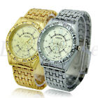 Women's Men's New  Fashion Crystal Stainless Steel Analog Quartz Wrist Watch