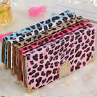 Newest Crystal Leopard Leather Wallet Magnetic Flip Cover Case Fr iPhone Samsung