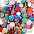 10/100pcs mixed dots cloth Buttons flatback 15MM craft embellishment scrapbook