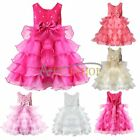 Baby Girl Flower Party Formal Christening Wedding Bridesmaid Party Dress Age 1-7