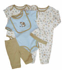 Baby Boys Starter Set Vests Sleepsuit Bib Trousers and Hat NB to 3-6 m
