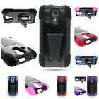 For Kyocera Hydro Icon Hard + Silicone Hybrid w/ Stand Cover Phone Case