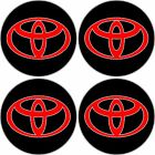 REFLECTIVE TOYOTA wheel RIM center decal car truck bumper sticker contour cut